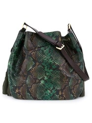 Etro Paisley Hobo Shoulder Bag Green