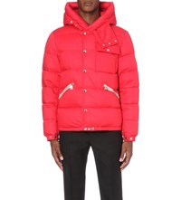 Moncler Lioran Quilted Cotton Shell Jacket Red