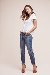 Anthropologie Paige Jimmy Jimmy Mid Rise Petite Crop Jeans Light Denim