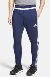 Men's Adidas 'Tiro 15' Slim Fit Climacool Training Pants Dark Blue White Dark Blue