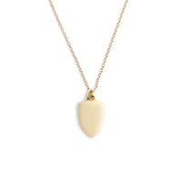 J.Crew 14K Gold Shield Charm Necklace With 18 1 2' Chain