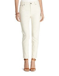 Lauren Ralph Lauren Premier Slim Fit Ankle Length Jeans Natural