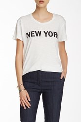 Elizabeth And James Bowery Graphic Tee White