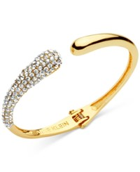 Anne Klein Pave Hinged Cuff Bracelet Only At Macy's Gold