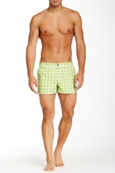 Parke And Ronen Plaid Angeleno Short Green