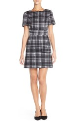 Women's French Connection 'Clarence' Check Stretch Cotton A Line Dress