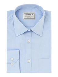 Howick Canyon Twill Shirt With Pocket Sky Blue