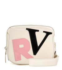 Roger Vivier Faux Patent Leather Clutch Beige