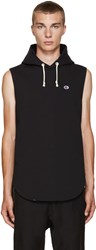 Champion X Beams Black Reverse Weave Sleeveless Hoodie