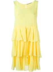 Ermanno Scervino Ruffle Dress Yellow And Orange