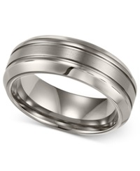 Macy's Men's Titanium Ring Comfort Fit Wedding Band