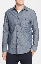 Wallin And Bros. Regular Fit Quilted Shirt Jacket Indigo
