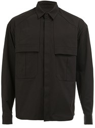 Juun.J Boxy Pocketed Shirt Black