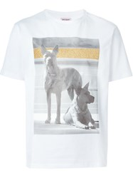 Palm Angels Dog Photo Print T Shirt White