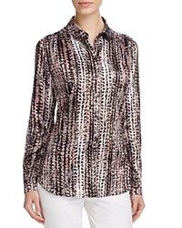 Basler Abstract Print Blouse Black