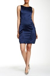 Zac Posen Toddy Pleated Dress Blue