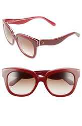 Women's Kate Spade New York 'Amberly' 54Mm Cat Eye Sunglasses Red Pink