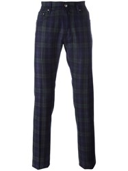 Jacob Cohen Plaid Tapered Trousers Green