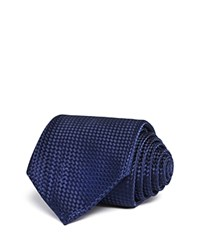 Bloomingdale's The Men's Store At Textured Solid Classic Tie Navy