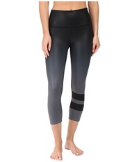 Alo Yoga High Waist Airbrush Capris Gradient Black Women's Capri