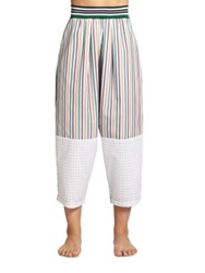 Clover Canyon Geometric Print Cotton Pants Multi