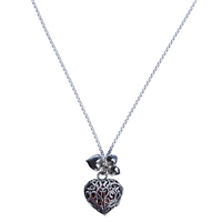 Martick Sterling Silver Locket With Murano Heart