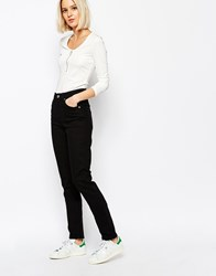 Weekday Way High Waist Slim Leg Jeans Black