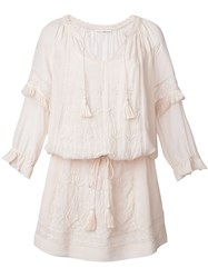 Ulla Johnson Floral Embroidery Dress Pink And Purple