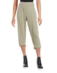 Elie Tahari Crepe Gaucho Pants Brown