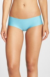 Women's Halogen 'No Show' Cheeky Hipster Briefs Teal Dolphin