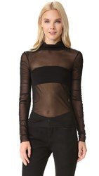 Opening Ceremony Mesh Top Black