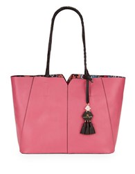 Nanette Lepore Leah Leather Tote Pink