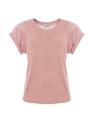 Garcia T Shirt With Contrasting Sleeves Pink