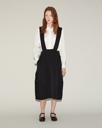 Comme Des Garcons Patchwork Suspender Skirt Black