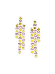 Simone Rocha Chandelier Earrings Pink Purple