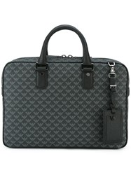 Emporio Armani Printed Briefcase Black