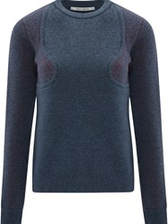 Paco Rabanne Wool Sweater Blue