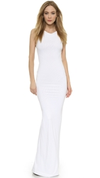 Dsquared Sleeveless Jersey Gown White