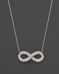 Kc Designs Diamond Infinity Pendant In 14K White Gold .14 Ct. T.W. White Gold White Diamonds