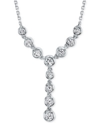 Sirena Diamond Lariat 1 2 Ct. T.W. Necklace In 14K White Or Yellow Gold White Gold