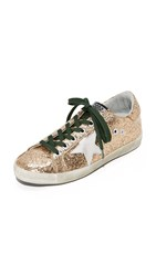 Golden Goose Superstar Sneakers Gold Emerald