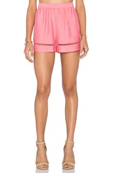 Bb Dakota Elastic Waist Short Coral