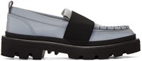 Msgm Grey Ms Gore Loafers