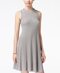 American Rag Striped Knit A Line Dress Only At Macy's Grey Combo