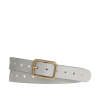 J.Crew Perforated Italian Leather Belt Dusty Pearl