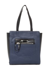 Mackage Arrow Leather Tote Blue