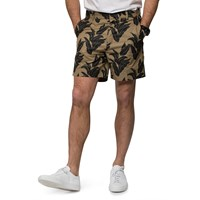 Wood Wood Khaki Plantlife Shorts Blue