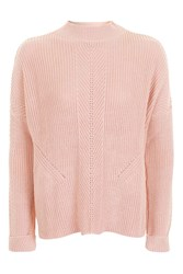 Topshop Tall Travelling Rib Jumper Pale Pink