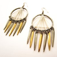 Louise Manna Navajo Sun Earrings White Silver And Gold