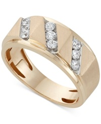 Macy's Men's Diamond Band Ring 1 2 Ct. T.W. In 10K Gold